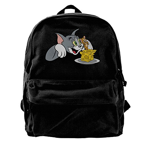 [ARMAN HUGO Tom And Jerry Unisex One Size Cool Canvas Storage Bag Hiking Mountaineering Daypacks] (Dog Costume Carrying Gift Video)