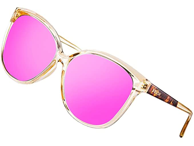 Women's Polarized Oversized Vintage Cat Eye Sunglasses