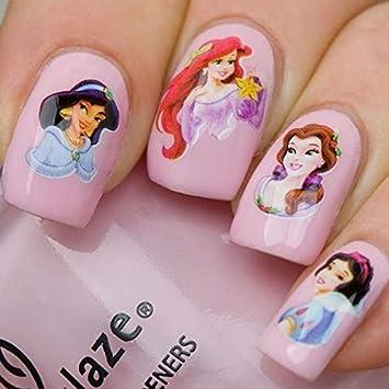 Amazon Disney Cartoon Princess Nail Art Water Slide Sticker