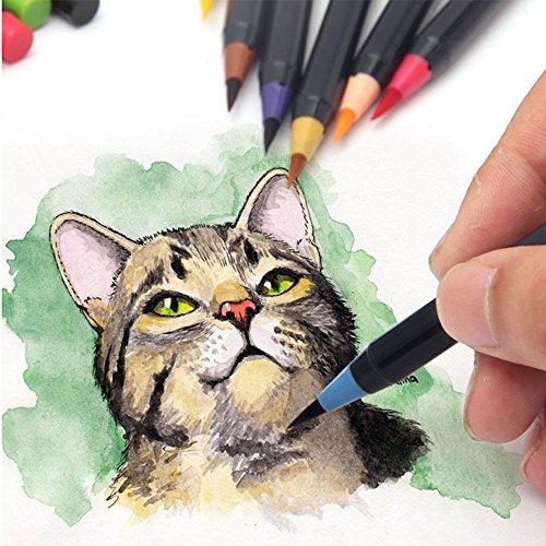 20 Premium Watercolor Soft Brush Pens plus BONUS Watercolor Pen ...