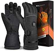 Balhvit Winter Heated Gloves for Men Women, Rechargeable Electric Motorcycle Gloves and Ski Gloves, Cold Weath