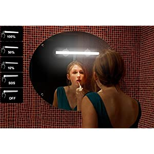 LED Mirror Lights, Portable Vanity lights | Simulated Daylight | 4 Brightness Level Touch Control | Rechargeable,Cordless Makeup Lights.