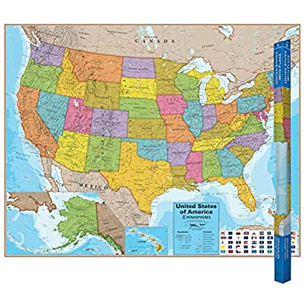 Round World Products RWPHM02 Hemispheres Blue Ocean Series USA Laminated on historic map of usa, abstract map of usa, coastal map of usa, business map of usa, decorative map of usa, road map of usa, special purpose map of usa, rustic map of usa, pictorial map of usa, cultural map of usa, income map of usa, chill map of usa, marcellus shale map of usa, geopolitical map of usa, solid map of usa, solar energy map of usa, transportation map of usa, historical map of usa, logistics map of usa, geophysical map of usa,