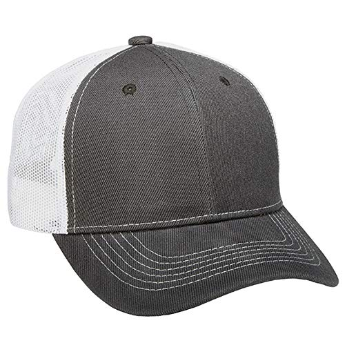 - 1 Dozen (12) Grey/White Bulk Wholesale Twill/Mesh Trucker Hats by Paynter Enterprises LLC