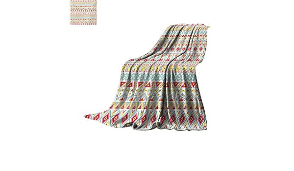 c77154d764 ... Throw Blanket Aztec Inspired Patterns Stripes Fun Spring Colors Native  Style Prints Custom Design Cozy Flannel Blanket 60