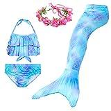 Always beautiful Mermaid Swimsuit Tail Two Ways to Use, Beach Fun Girl Bikini Suit