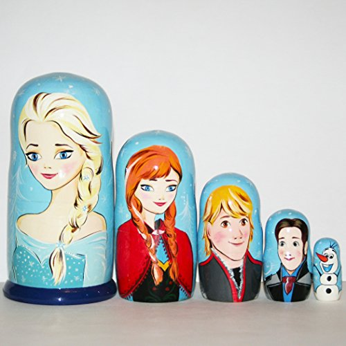 Nesting doll Frozen Disney Russian dolls matryoshka babushka nested matrioshka