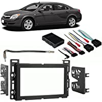 Fits Saturn Aura 2007-2009 Double DIN Stereo Harness Radio Install Dash Kit