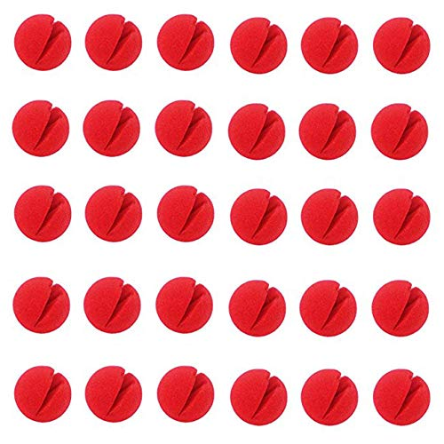 Jashem 30PCS Red Circus Clown Nose Halloween Christmas Costume Party 2