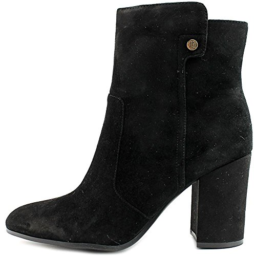 Womens Toe Boots Fashion Ankle Tommy Black Hilfiger Suede NATALAI Round an5wqZ