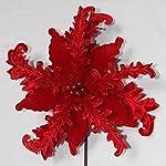 V-Max-Floral-Decor-31-Red-Velvet-Poinsettia-Spray-Pack-of-6