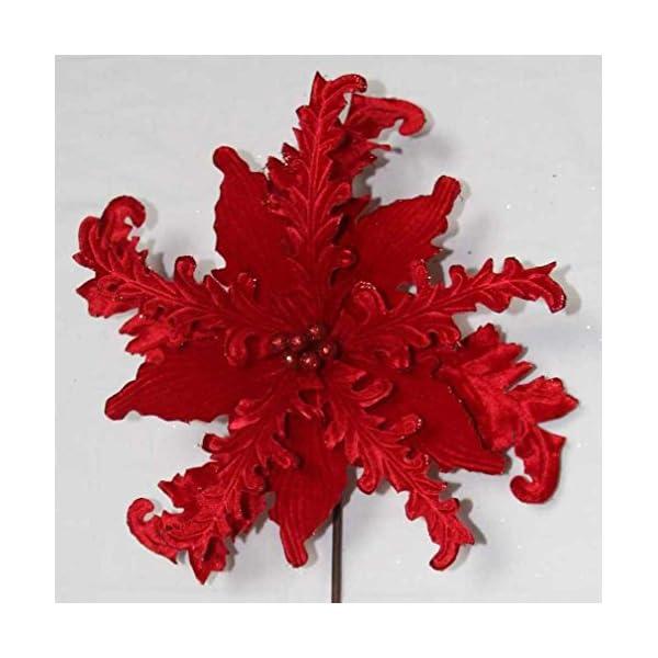 V-Max Floral Decor 31″ Red Velvet Poinsettia Spray (Pack of 6)