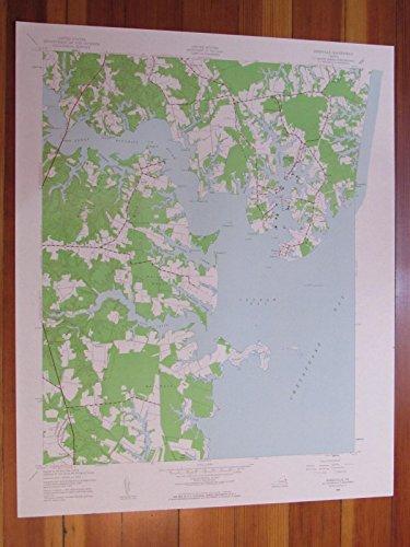Reedville Virginia 1961 Original Vintage USGS Topo - Mills Potomac Map