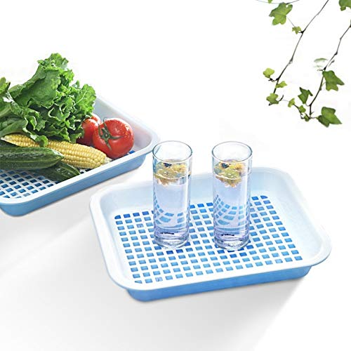 BeesClover Brief but Elegant Double Layer Drain Tray teaberries Drain Basket Fruit Pallet Vegetables Beverage Storage Tray Show
