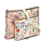 Cosmetic Bag Set Primrose Hill Calico Canary Collection Cosmetic Clutch 2 Piece Set