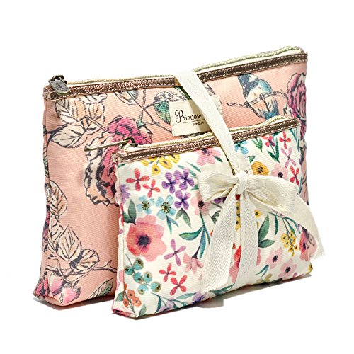 Primrose Hill Calico Canary Collection Cosmetic Clutch 2 Piece Set