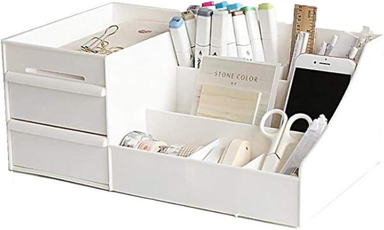 LOVEMW Caja Almacenamiento de Organizador de Paleta de MaquillajeOrganizador de joyería multifunción para Maquillaje Accesorios cosméticos Cajas de Almacenamiento de Maquillaje,White: Amazon.es: Hogar