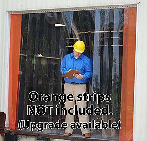 width X 84 in. Standard Smooth 4 in Strips with 50/% overlap height Hardware included common kit for frequent traffic Strip-Curtains.com: Strip Door Curtain 7 ft 3 ft 36 in.