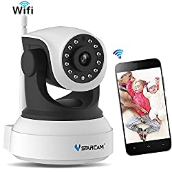 Wifi Camera 720p,vstarcam Remote Wifi Cam With Night Vision Security Ip Camera For Indoor,2 Way Audio & Multi Users Home Security Monitoring Support Pantilt Zoom Motion Detection Pet Baby Cam