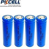 4 Pack AA 14500 3.7V Li ion 750mAh Rechargeable batteries