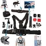 Great Value Gopro Set Kits DAZZNE KT-115 Extreme Sport Camera Accessory Set for GOPRO Black