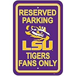Official National Collegiate Athletic Association Fan Shop Authentic NCAA Parking Sign (LSU Tigers)