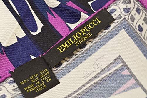 (エミリオプッチ)ポケットチーフ メンズ プッチ柄シルクポケットチーフ(サイズ32×32cm)eep19w129 パープル