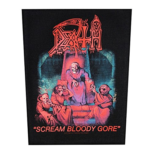 (XLG Death Scream Bloody Gore Back Patch Death Metal Music Jacket Sew On)