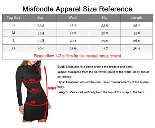 Bodycon Sexy Mini MISFONDLE Long Black Turtleneck Women's Dress Club Sleeve Casual qtnnTS