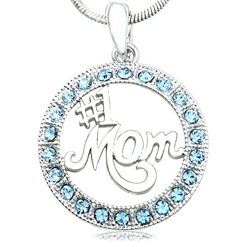 Soulbreezecollection 1 Mom Number One Mother Pendant Necklace Charm Mother's Day Gift (Light (Number 1 Mom Pendant)