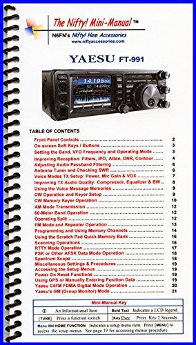 Yaesu FT-991 Mini-Manual by Nifty Accessories (Mini Manual Mini)