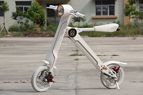 Best Price of LEHE K1S 8.8AH 27KMH Electric Foldable Bike with Case, Black / White
