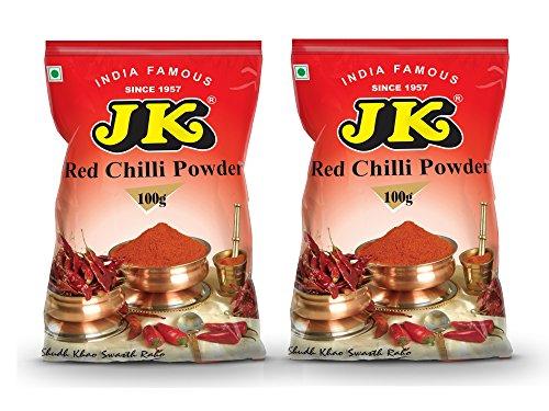 JK EXTRA HOT RED CHILI POWDER 7.05 Oz, 200g (100g x 2 Packs) (Extra Hot Chilli) Non-GMO, Gluten free and NO preservatives!
