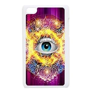 Ipod Touch 4 Eyes Phone Back Case DIY Art Print Design Hard Shell Protection LK026530