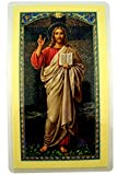 WJH Laminated Jesus Christ Holy Card with Ten Commandments of God, Pack of 10, 4 1/2 Inch