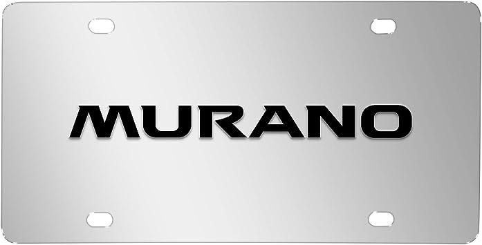 Buick Color Chrome// Black Logo On Polished License Plate