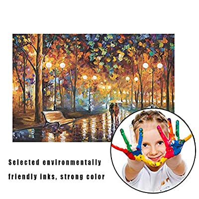 Puzzle 1000 Piece Jigsaw Puzzle for Kids Adult – Rainy Night Stroll Jigsaw Puzzle: Toys & Games