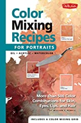 Color Mixing Recipes for Portraits features master mixes for an array of skin colors in oil, acrylic, and watercolor—plus recipes for hair, eye, and lip colors. The concealed wire-o bound book also includes a plastic color-mixing grid for mea...