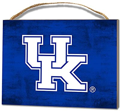 """KH Sports Fan 4""""X5.5"""" Kentucky Wildcats Colored Logo Small College Plaque"""