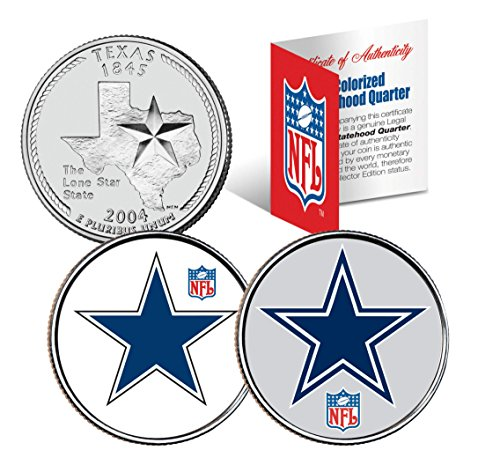 DALLAS COWBOYS * Retro & Team Logo * Texas Quarters 2-Coin U.S. Set NFL LICENSED
