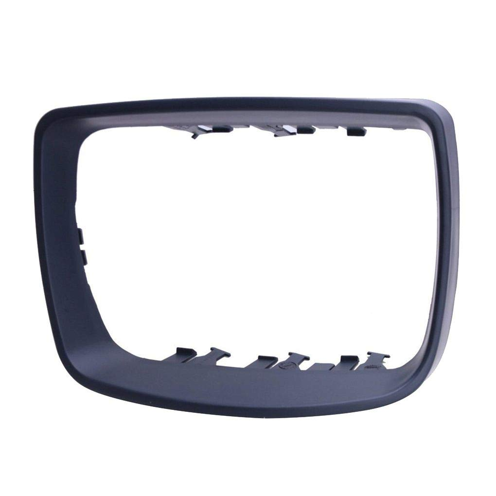 yanana Cuadro Derecho Plastic Side Espejo retrovisor de Coche Cubierta Anillo de la moldura 51168254904 reemplazo para BMW X5 E53 00-06