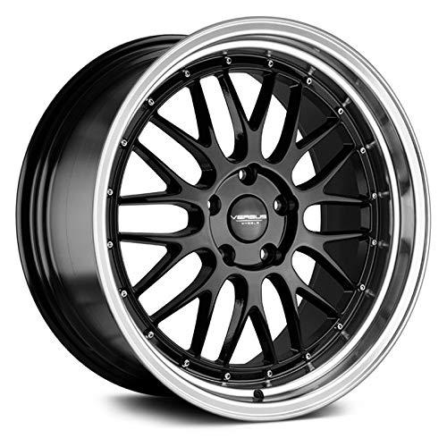 Versus VS243 Custom Wheel - Black with Machined Lip Rims - 18