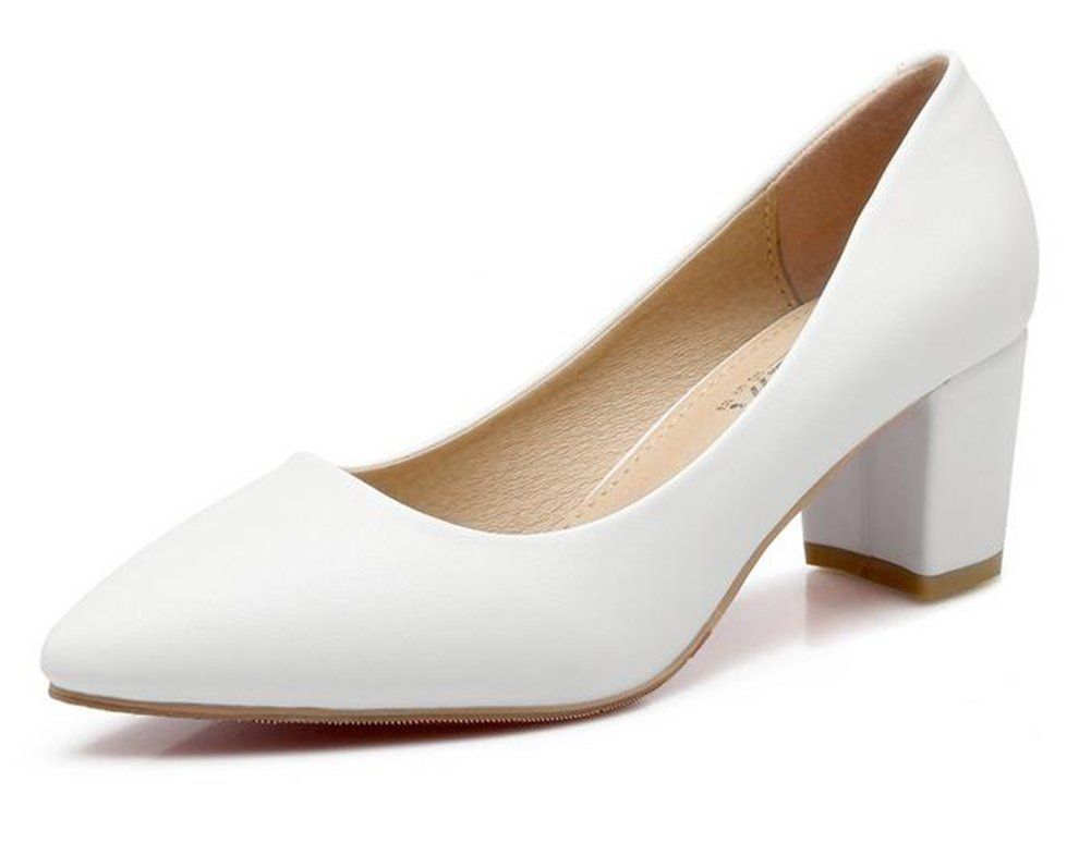 ytty Solo les chaussures puntiagudos, blanc, 38