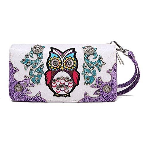 Blancho Biancheria da letto di stile occidentale Portafoglio Viola Owl