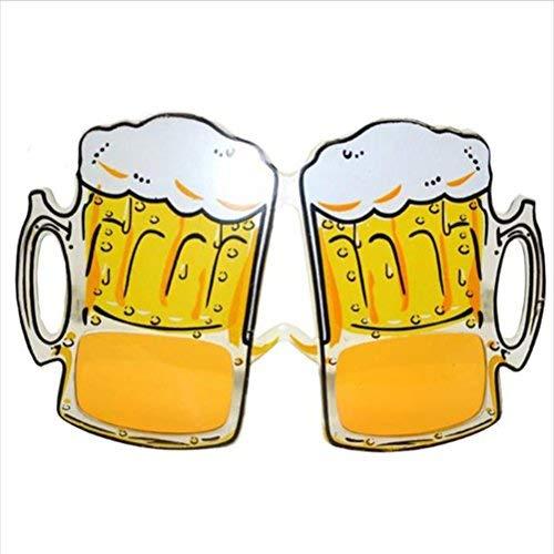 - OULII Beer Mug Eyeglasses Overflow Beer Cup Glasses for Costume Beer Festival Party Favors