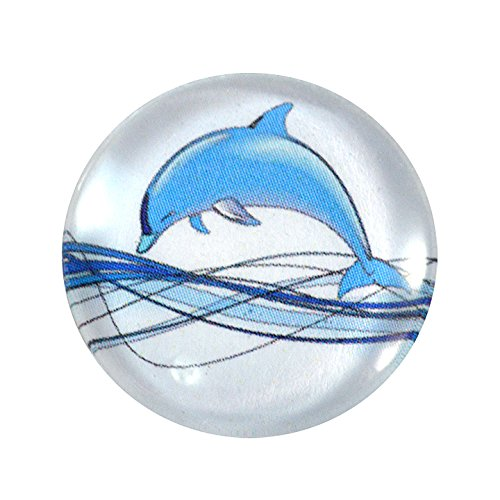 Domed Bead Caps (25mm Dolphin Cabochon Glass Flatback Circle Cab 1 Inch Circle Jewelry Making Supply Domed Round Finding)