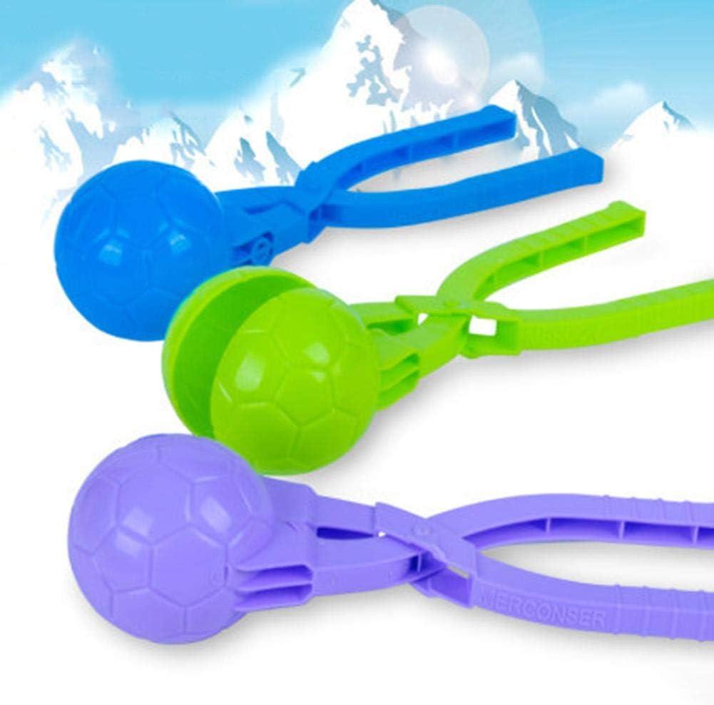 Yunhigh-uk Clip de Fabricante de Bolas de Nieve de f/útbol 3pcs Juguetes al Aire Libre de Invierno Jugar Juego de Nieve para ni/ños