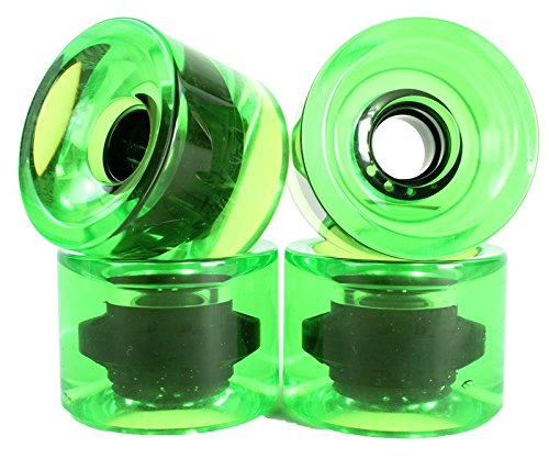 Super Blanks 70mm 78a Gel Soft Longboard Wheels (Clear -