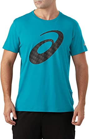 ASICS Men's Silver Graphic Short Sleeve Top