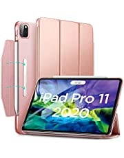 ESR Yippee Trifold Smart Case for iPad Pro 11 2020 & 2018, Lightweight Stand Case with Clasp, Auto Sleep/Wake [Supports Apple Pencil 2 Wireless Charging], Hard Back Cover for 11‑inch iPad Pro